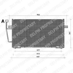 Радиатор кондиционера DELPHI TSP0225204