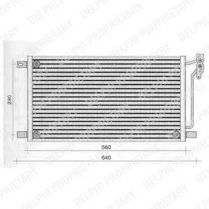 Радиатор кондиционера DELPHI TSP0225236