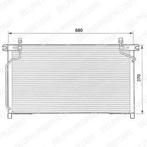 Радиатор кондиционера DELPHI TSP0225472