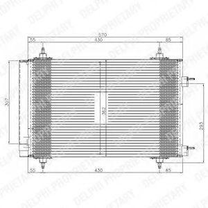 DELPHI CITROEN Конденсатор кондиционера C4 04-, PEUGEOT 307 DELPHI TSP0225549