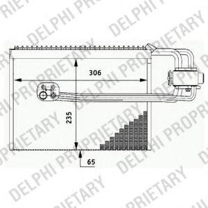 Испаритель кондиционера DELPHI TSP0525184