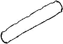 Прокладка клапанної кришки головки блоку циліндрів двигуна ( TOPRAN арт. 713366400