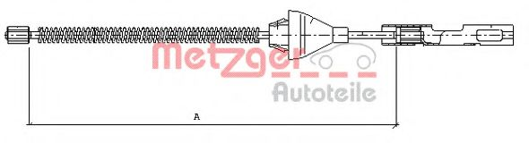 Трос, стояночная тормозная система  арт. 115454