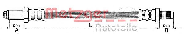 Шланг сцепления Шланг сцепления METZGER арт. 4112219
