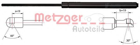 Упругий элемент, крышка багажника / помещения для груза  арт. 2110418