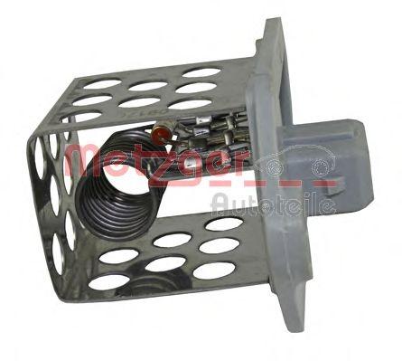 Блок управления вентилятором Резистор вентилятора пічки, постійний METZGER арт. 0917051
