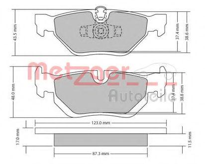 Комплект тормозных колодок, дисковый тормоз  арт. 1170031
