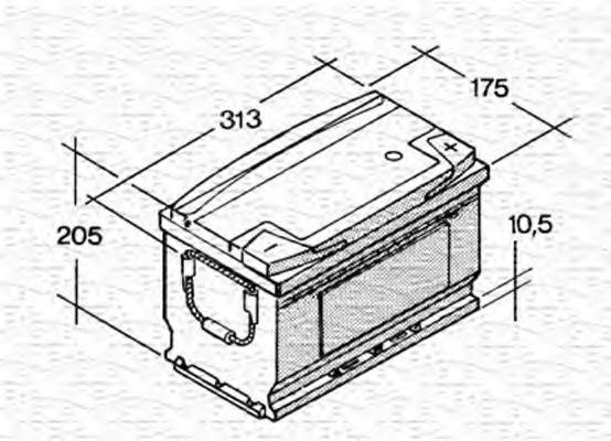 Стартерная аккумуляторная батарея  арт. 067145240003