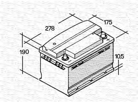 Стартерная аккумуляторная батарея  арт. 067147610003