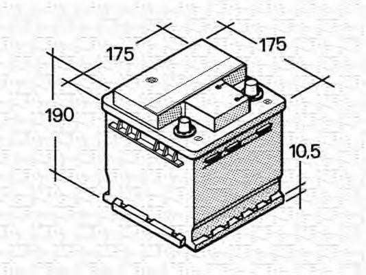 Стартерная аккумуляторная батарея  арт. 067129011003