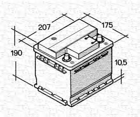 Стартерная аккумуляторная батарея  арт. 067143613003