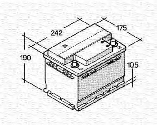 Стартерная аккумуляторная батарея  арт. 067143813003