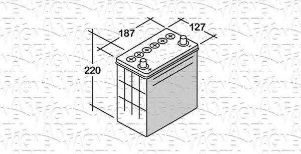 Стартерная аккумуляторная батарея  арт. 068035024060