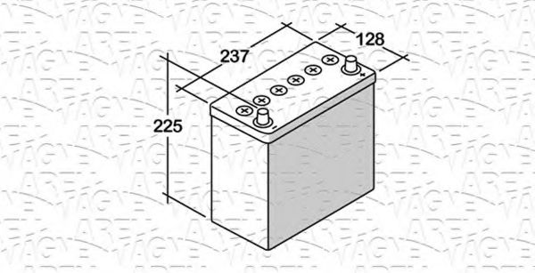 Стартерная аккумуляторная батарея  арт. 068045030010