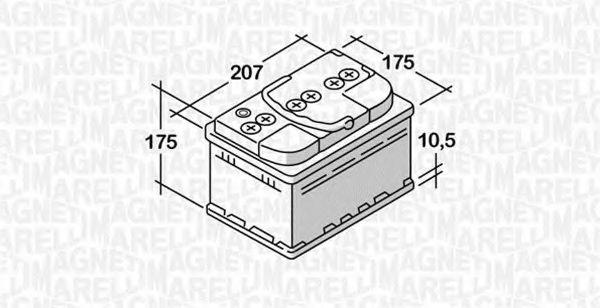 Стартерная аккумуляторная батарея  арт. 068044042030