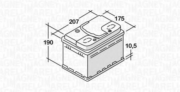 Стартерная аккумуляторная батарея  арт. 068045036010