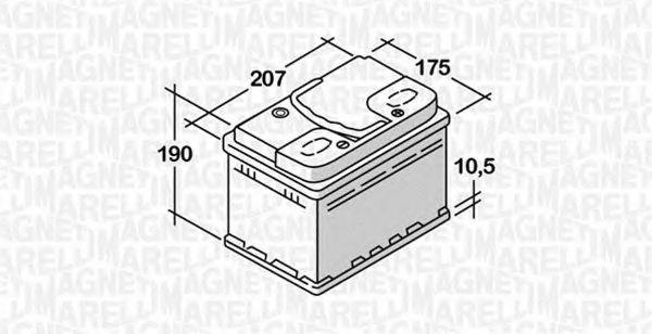 Стартерная аккумуляторная батарея  арт. 068050045010