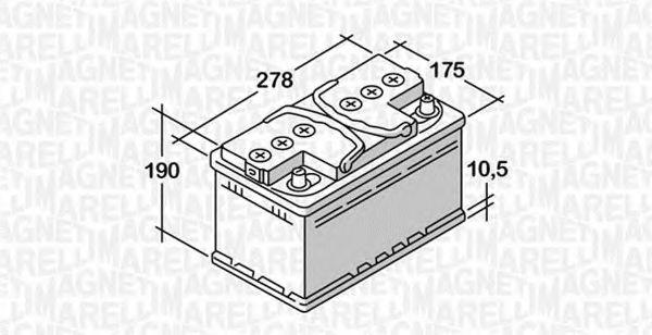 Стартерная аккумуляторная батарея  арт. 068063057020