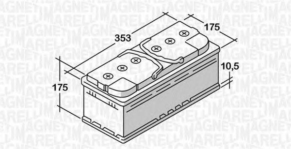 Стартерная аккумуляторная батарея  арт. 068085072030