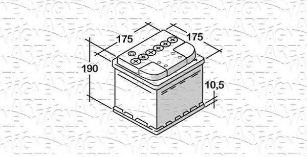 Стартерная аккумуляторная батарея  арт. 068044039010