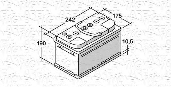 Стартерная аккумуляторная батарея  арт. 068064064010
