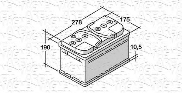 Стартерная аккумуляторная батарея  арт. 068077073010