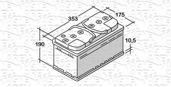Стартерная аккумуляторная батарея  арт. 068100085010