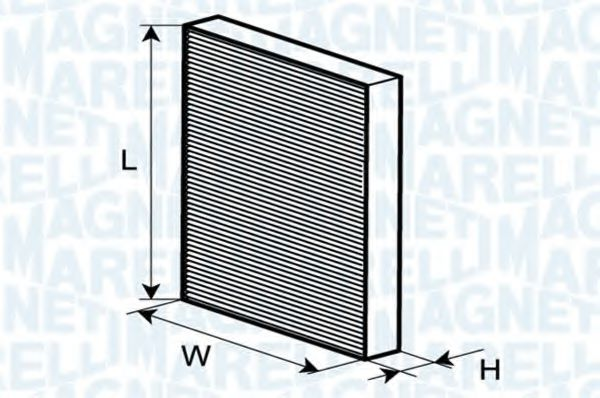Фильтр, воздух во внутренном пространстве  арт. 350203064210