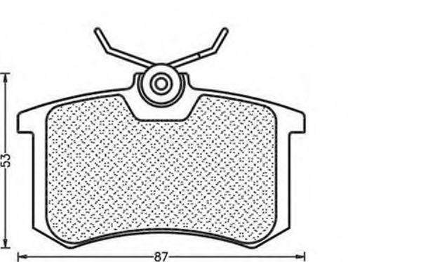Комплект тормозных колодок, дисковый тормоз  арт. 430216171256