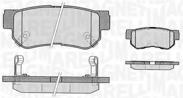 Комплект тормозных колодок, дисковый тормоз  арт. 363916060278