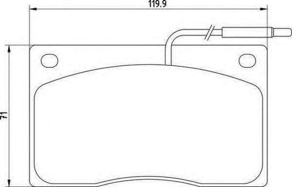 Комплект тормозных колодок, дисковый тормоз  арт. 363710200210