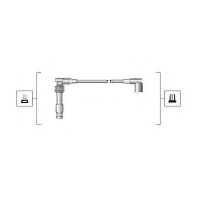 Комплект проводов зажигания (пр-во Magneti Marelli кор.код. MSQ0014)                                 JANMOR арт. 941319170014
