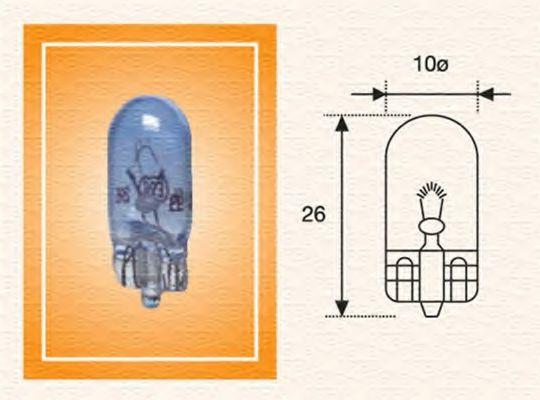 Лампа накаливания W5W 12V 5W W2,1X9,5d (пр-во Magneti Marelli)                                       в интернет магазине www.partlider.com