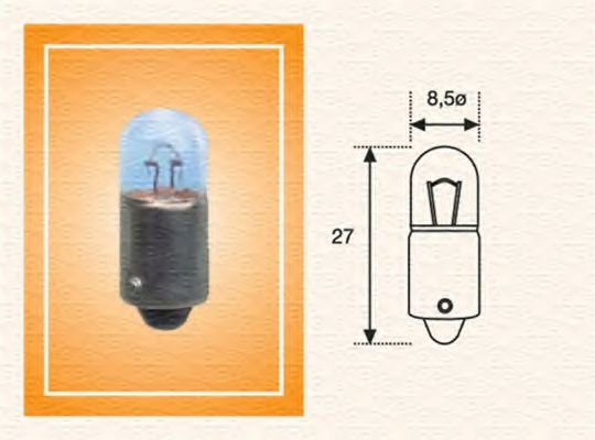 Лампа 24V T4W24V 4W BA9s (кор.код. T4W 24) (пр-во Magneti Marelli) BOSCH арт. 002894100000