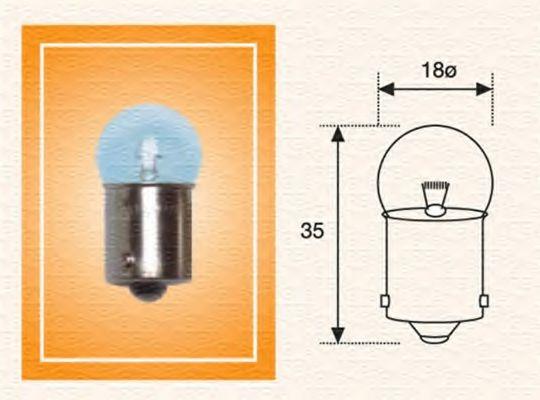 Лампа 24V R10W24V 10W BA15s (кор.код. R10W 24) (пр-во Magneti Marelli) BOSCH арт. 004009100000