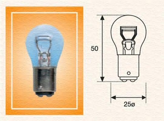 Лампа накаливания P21/4W 12V BAZ15d (пр-во Magneti Marelli) в интернет магазине www.partlider.com