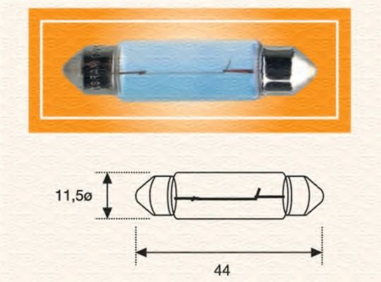 Лампа вспомогат. освещения C10W 12V SV8.5-8 (11,5x44) (пр-во Magneti Marelli) в интернет магазине www.partlider.com