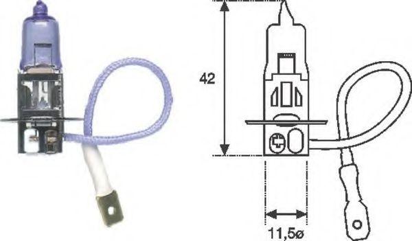 Лампа накаливания H3 12V 55W PK22s STANDART (пр-во Magneti Marelli)                                  в интернет магазине www.partlider.com