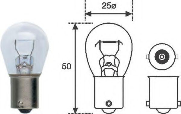 Лампа накаливания P21W 12V 21W BA15d (пр-во Magneti Marelli)                                         в интернет магазине www.partlider.com