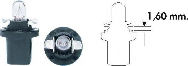 Лампа накаливания PB5 12V 1.2W B8.5D (пр-во Magneti Marelli)                                         в интернет магазине www.partlider.com