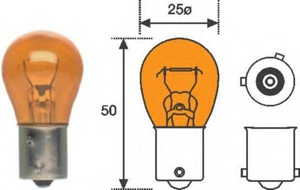 Лампа накаливания PY21W 12V 21W BAU15s (пр-во Magneti Marelli)                                        арт. 008507100000