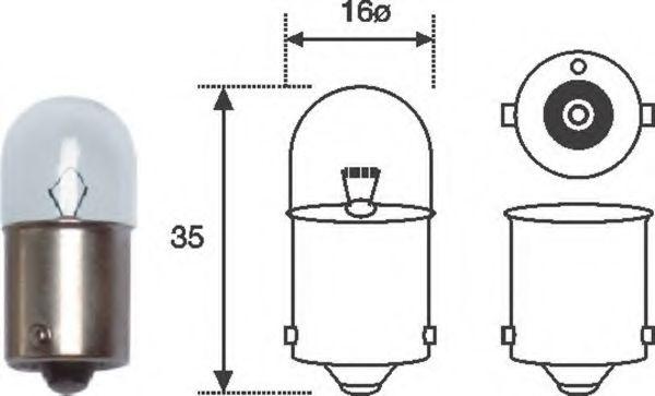 Лампа накаливания R5W 12V 5W BA15s (пр-во Magneti Marelli)                                           в интернет магазине www.partlider.com