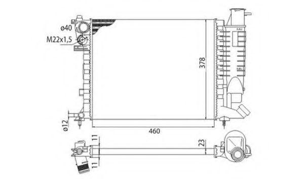 Радиатор, охлаждение двигател  арт. 350213373003