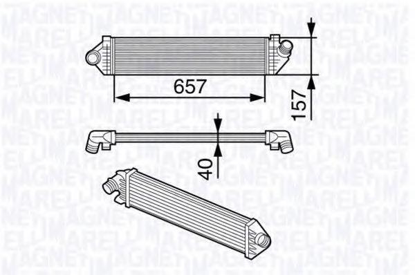 Радиатор, охлаждение двигател  арт. 351319202050