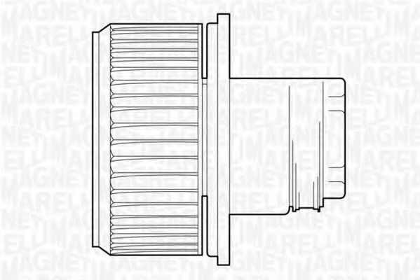 MAGNETI MARELLI Вентилятор отопителя (с конд.) FIAT DUCATO 2002 A.C. [069412523010] в интернет магазине www.partlider.com