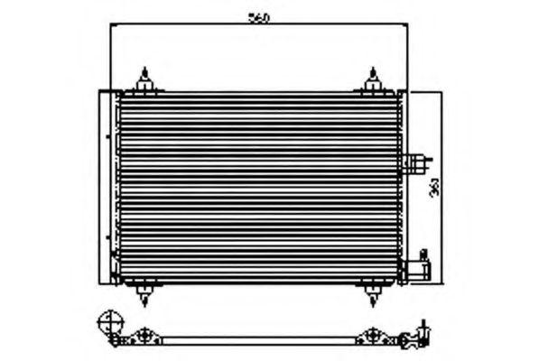 Радиатор кондиционера WAECO 8880400276